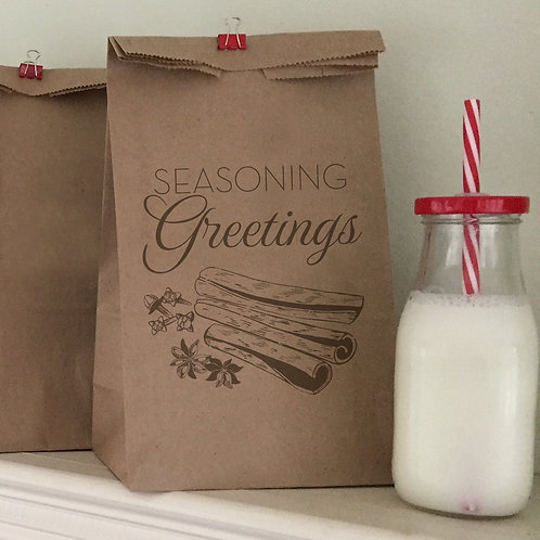 Seasoning Greetings Lunch Bags