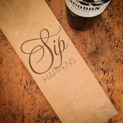 Sip Happens, Wine Bag