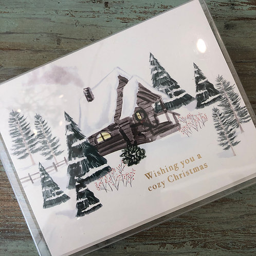 Cozy Cabin Foil Boxed Cards