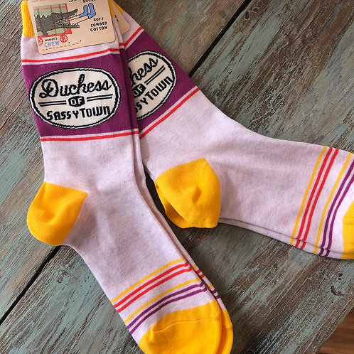 Dutchess of Sassytown Women's Crew Socks