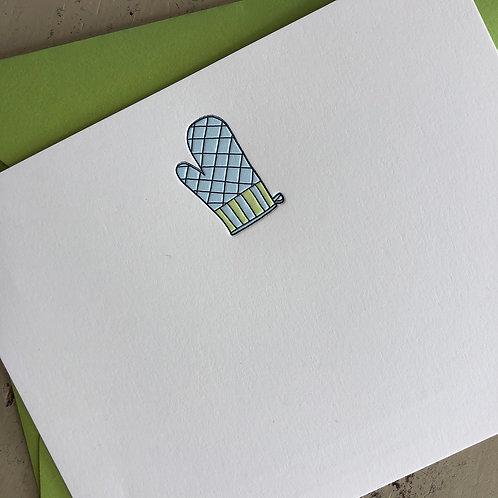 Oven Mitt Notecard