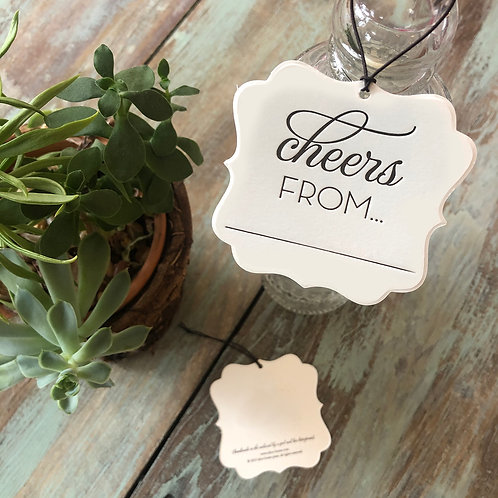 Cheers From... Wine Tags