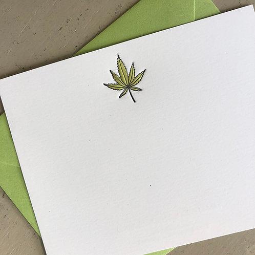 Weed Notecard