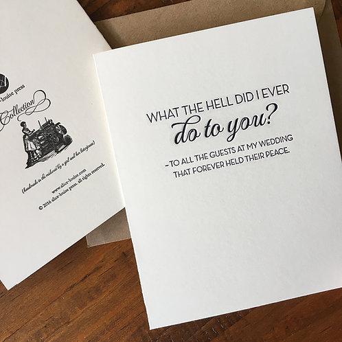 Wedding Guests Card
