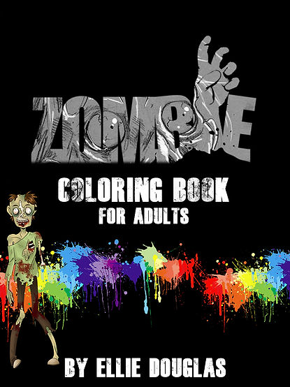 Zombie coloring book for all of those who love zombies. Blood. Gore. Fun. Colorin books. Pages for you to color, where you get to bleed outside the lines.