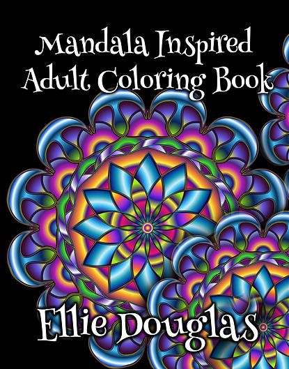 Mandala Inspired adult coloring book.