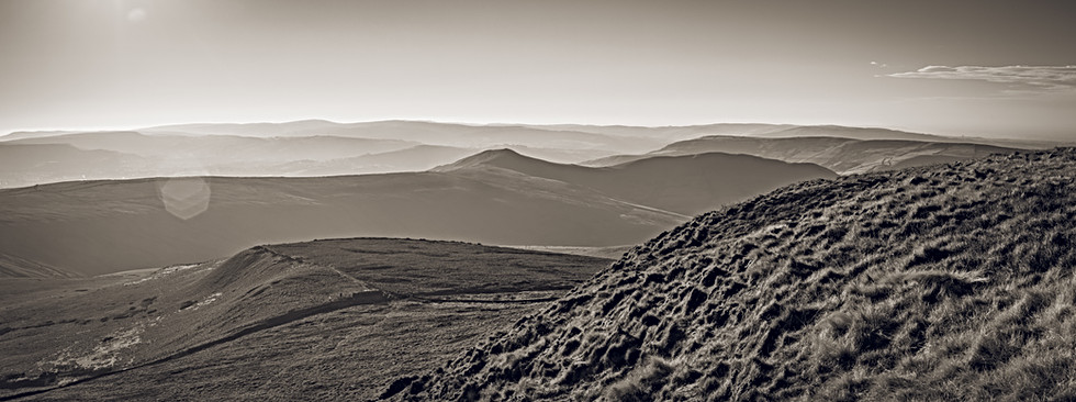 Over the Moors from Swine's Back, Kinder Scout