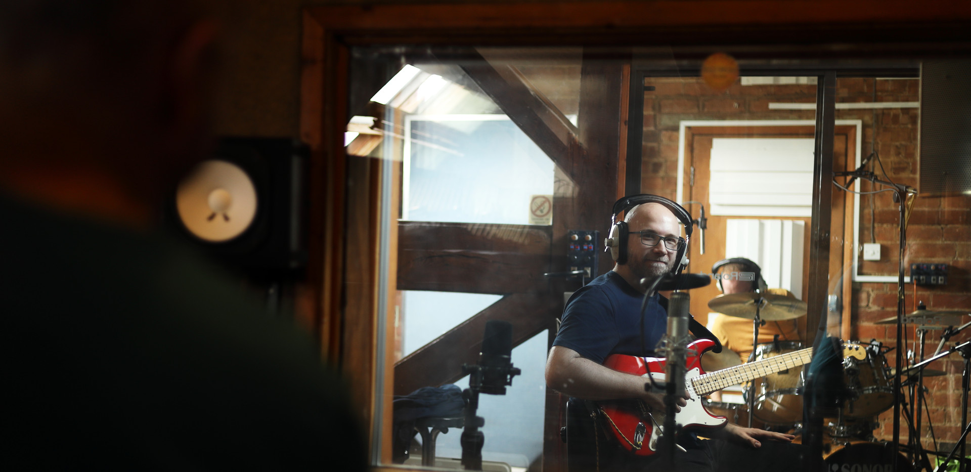 Sal Broughton at his album recording session