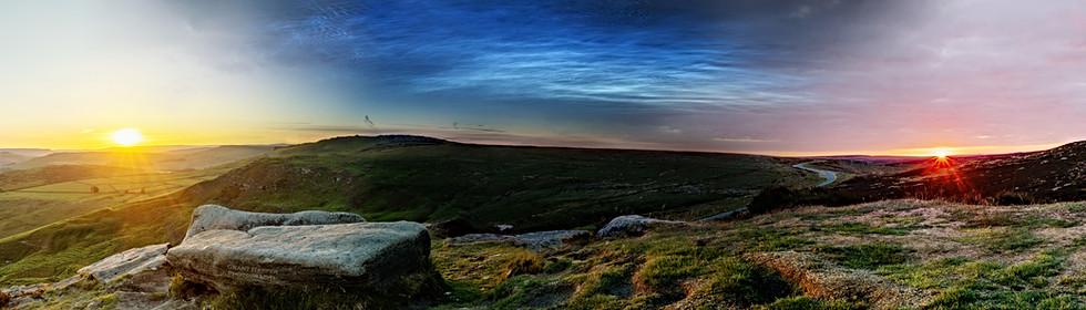 Sunset to Sunrise from Higger Tor