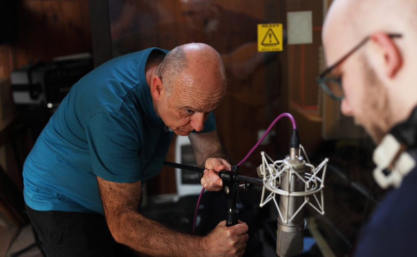 Recording Engineer Andie Thompson in action