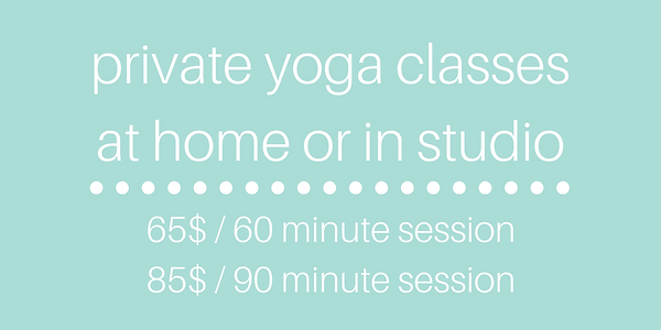 PRIVATE YOGA AT HOME