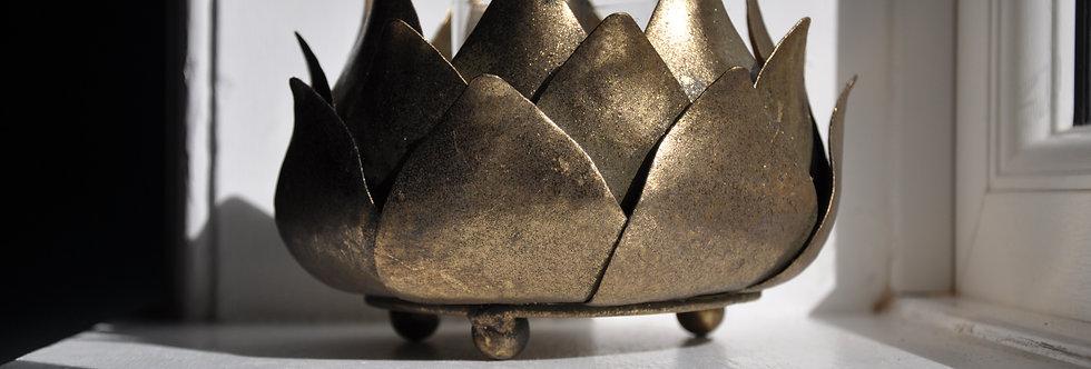 Golden Artichoke Candle Holder