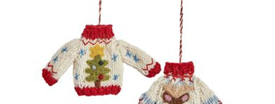 Knitted Christmas Jumper Decorations