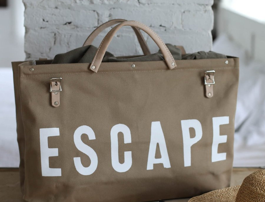 ESCAPE Canvas Utility Bag in Khaki by Forest Bound