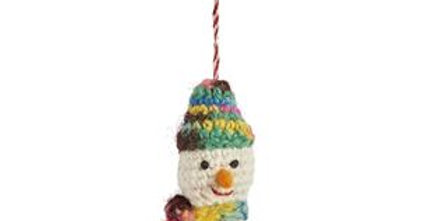 Rasta Crocheted Snowman Decoration