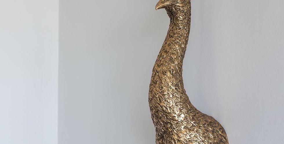 Golden Peacock Wall Art