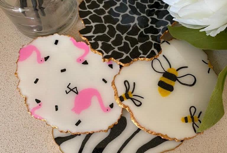 Animal Print Coaster Sets