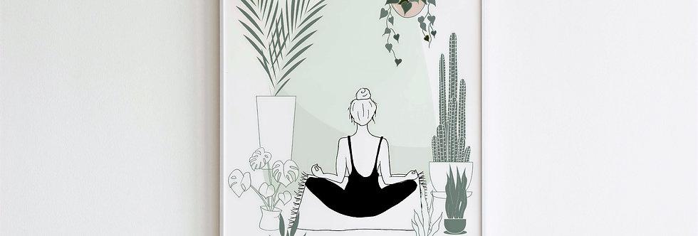 Plant Mama B&W Print