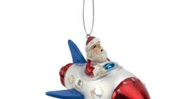 Santa Rocket Decoration