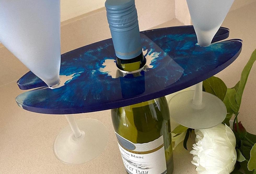 Blue Wine Holder