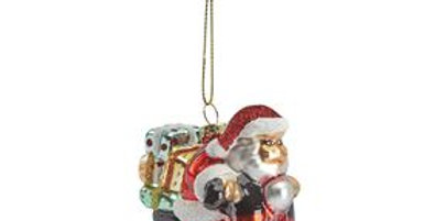 Santa on a Moped Decoration
