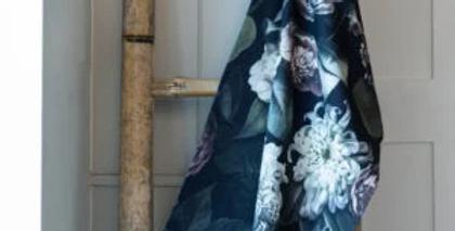 Vintage Flowers Kitchen Tea Towel 100% Cotton