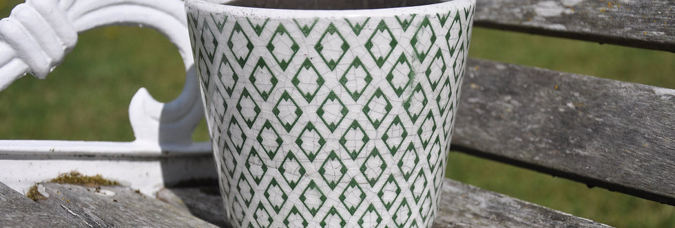 Old Style Dutch Green Pot