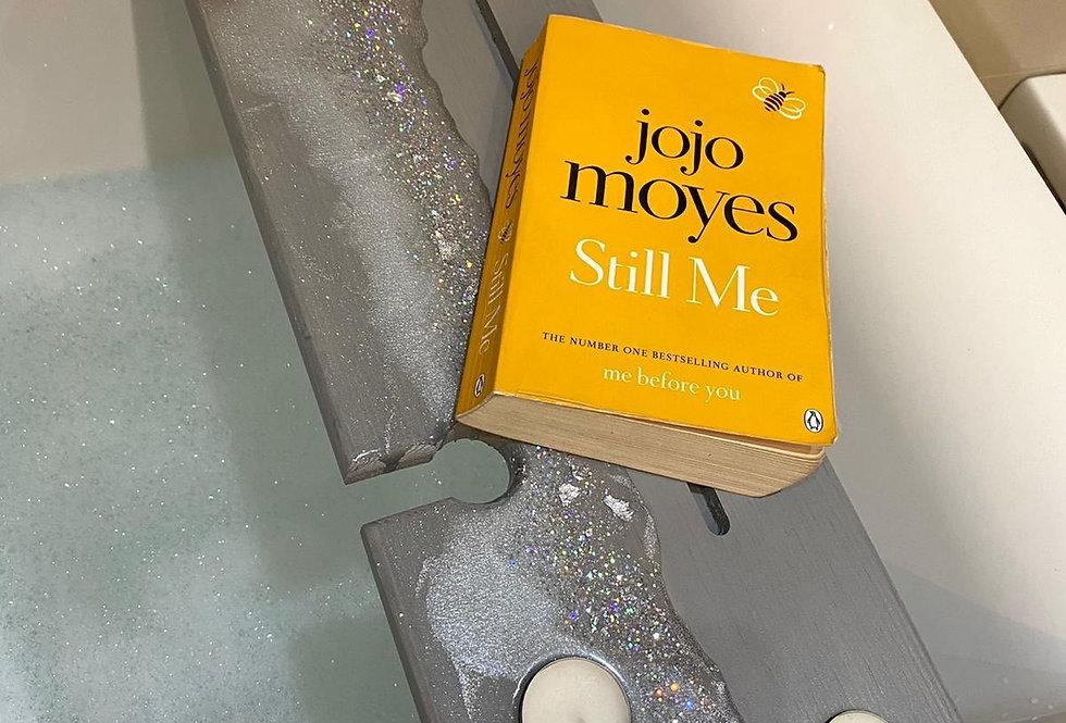 Grey/White/Silver Sparkle Bespoke Bath Board