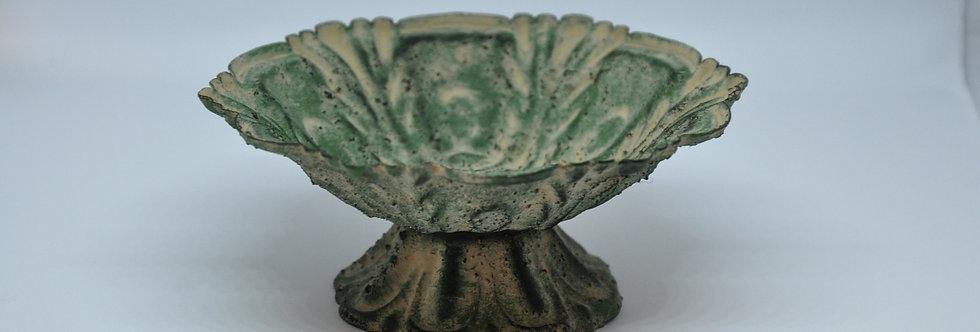 Small Lotus Antique Green Dish