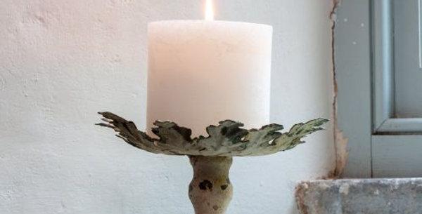 Vintage Leaf Candle Holder