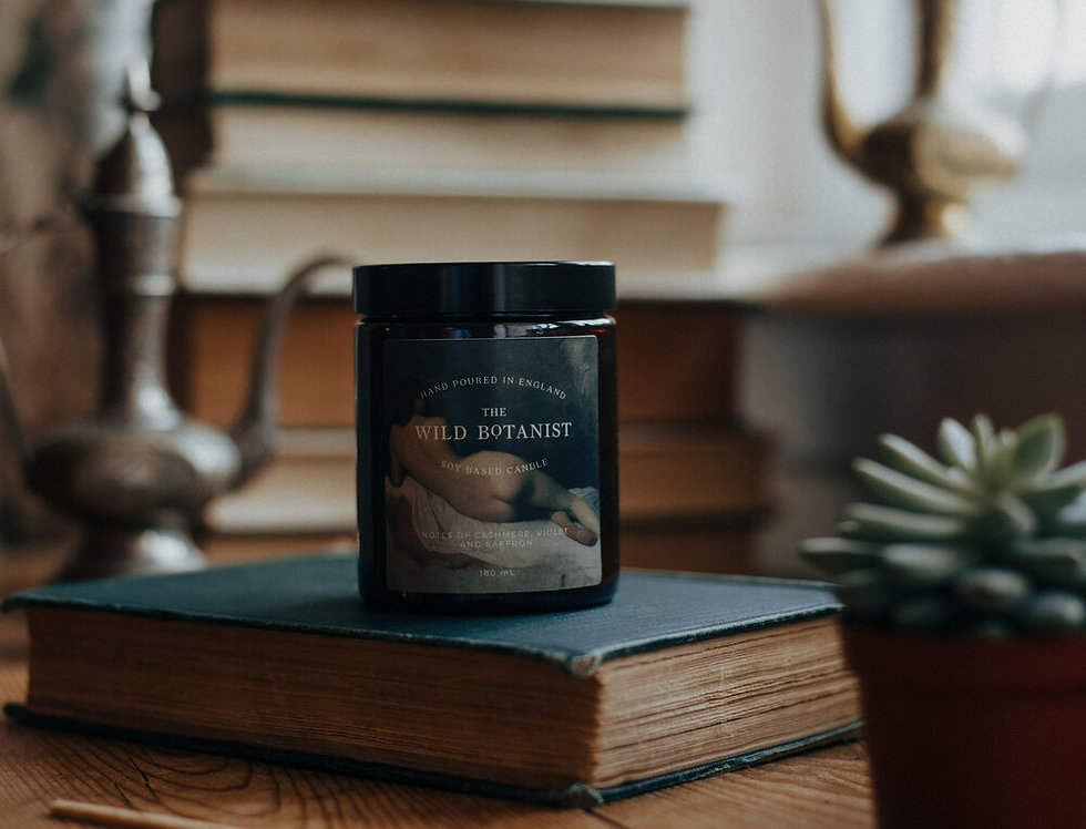 Cashmere, Voilet & Saffron Candle - The Gallery Collection