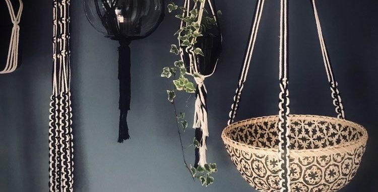 Macrame Monochrome Plant Hangers