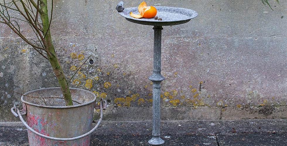 Tall Metal Bird Bath Feeder