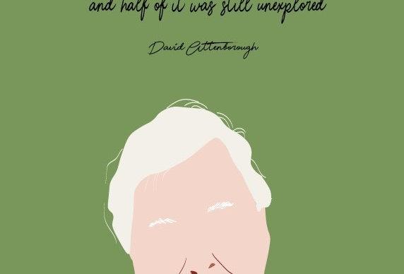 David Attenborough Print