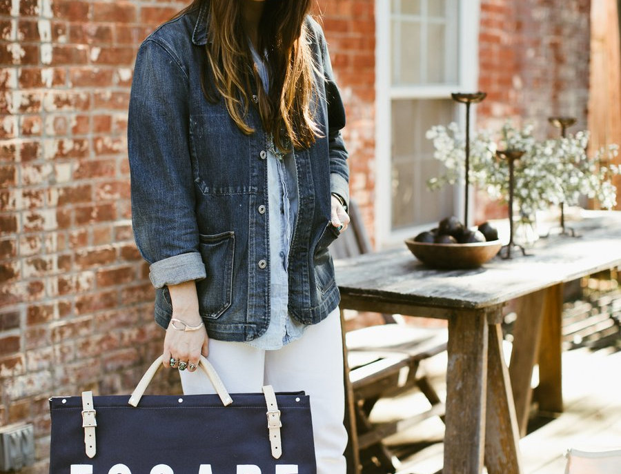 ESCAPE Canvas Utility Bag in Navy by Forest Bound