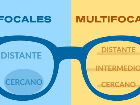 ¿Cuál es la diferencia entre un lente bifocal y un multifocal?