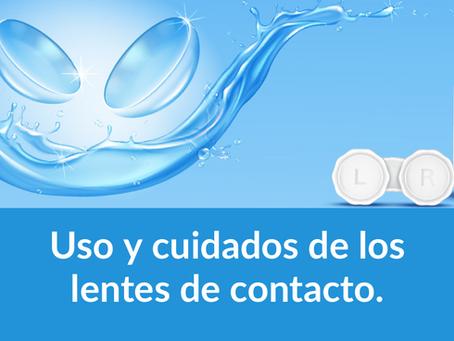 Uso y cuidados de los lentes de contacto