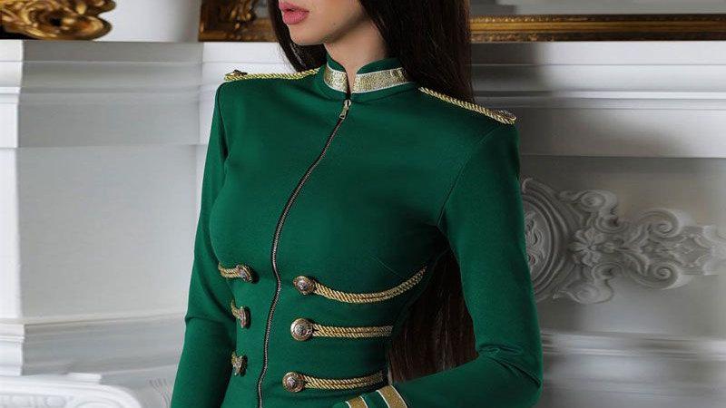 Long Sleeve Elegant Bandage Jacket