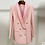 Thumbnail: Spring Autumn Blazer Women Pink Sexy Long Sleeve Double-Breasted Slim Coat