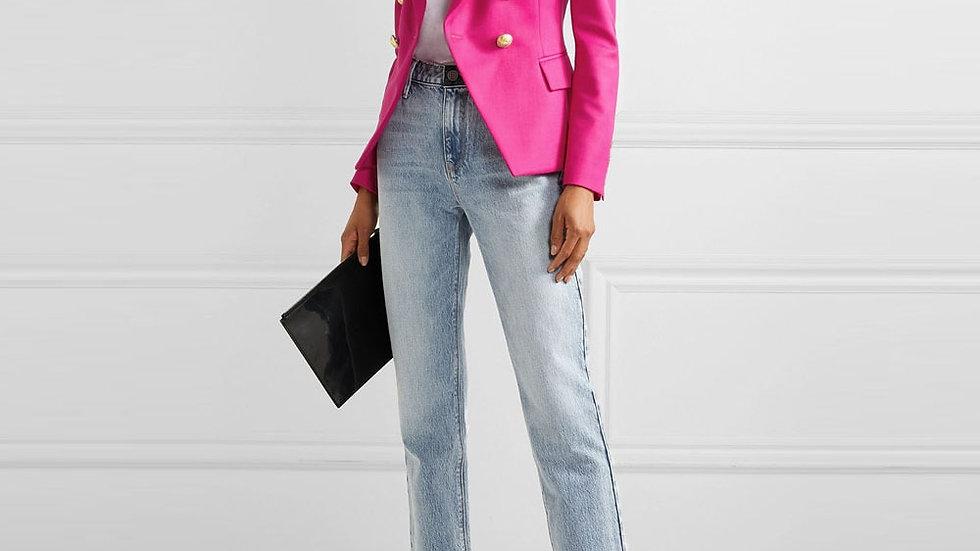 Femme Fatale Ladies Blazer Pink Blue White Black Women Jacket