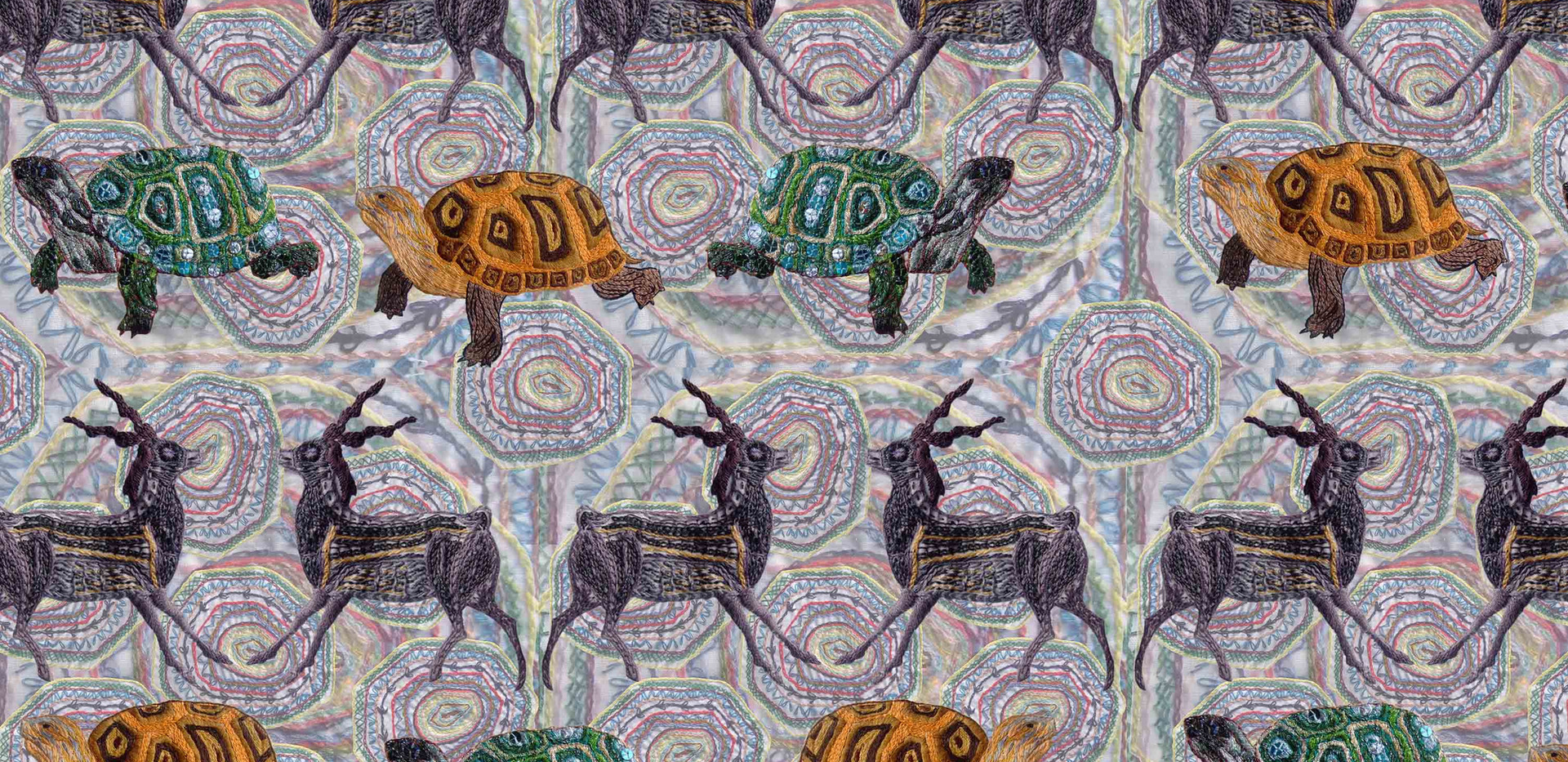 Deer and Tortoise Pattern