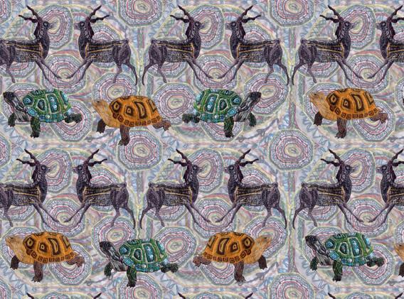 Deer and Tortoise Pattern