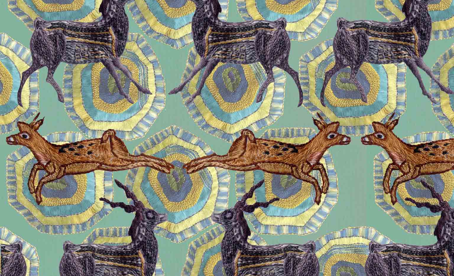 Deer on Turtle Pattern