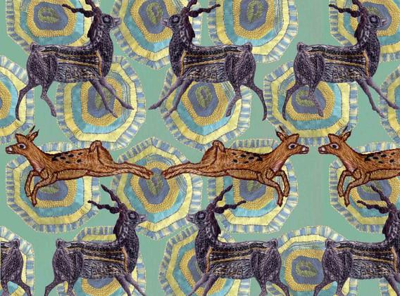 Deer on Turtle Pattern