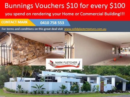Bunnings Vouchers $10 for every $100 you spend on rejuvenating your home or commercial business.