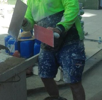 """Meet Mick one of our foremen behind the """"Great Walls of Cairns"""""""