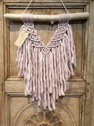 tenture laine rose