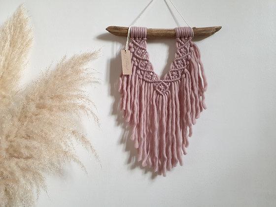 petite tenture laine rose