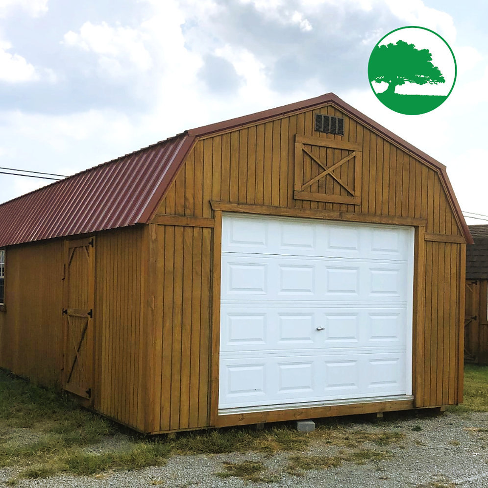 "*SOLD* 14' X 32' Treated ""Lofted Garage"""