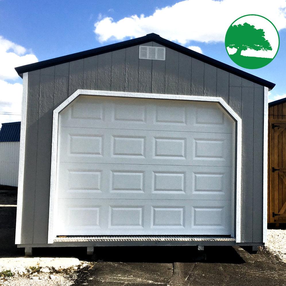 12 X 24 Painted Quot Garage Quot Backyardworld